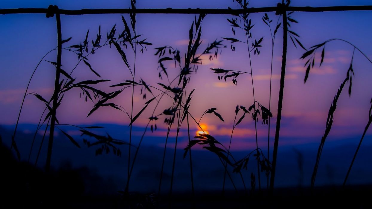 sunset-summer-mountains-clouds-sky wallpaper