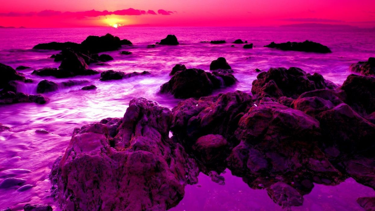 sunset-view-rays-water-beauty-sky-stones-beautiful-wave-purpel-beach-clouds-purple-sea-pink-ocean-rockes-peaceful-sun-nature-photography-horizon- wallpaper