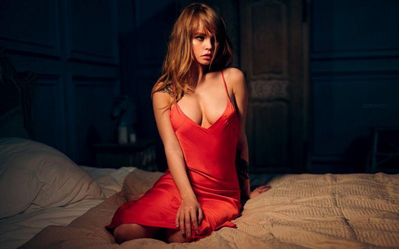 dress Anastasia Shcheglova photographer nightie bed Ivan Gorokhov look wallpaper