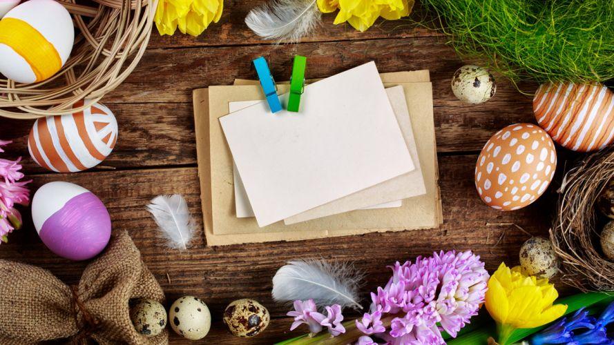 pascua huevos pintados papel wallpaper