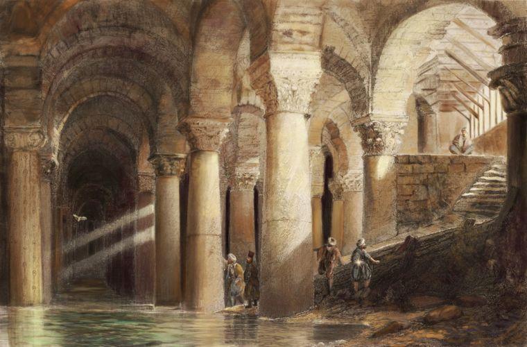 beste-erel-yerebatan ottoman original fantasy painting art wallpaper