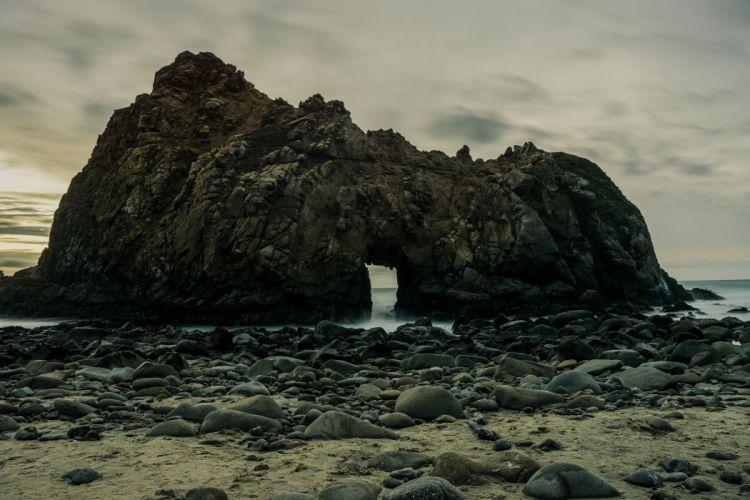 beach island nature ocean outdoors rock formation rocks sand scenic sea seascape seashore sky water wallpaper