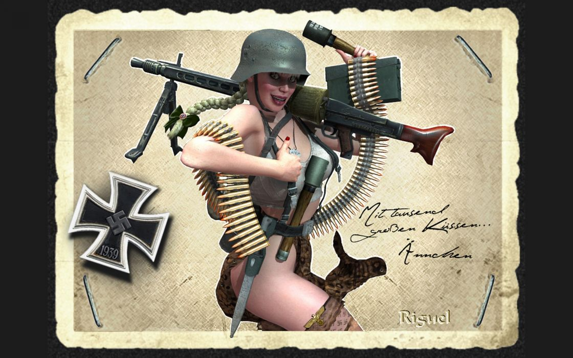 3D Graphics Army Girls wallpaper