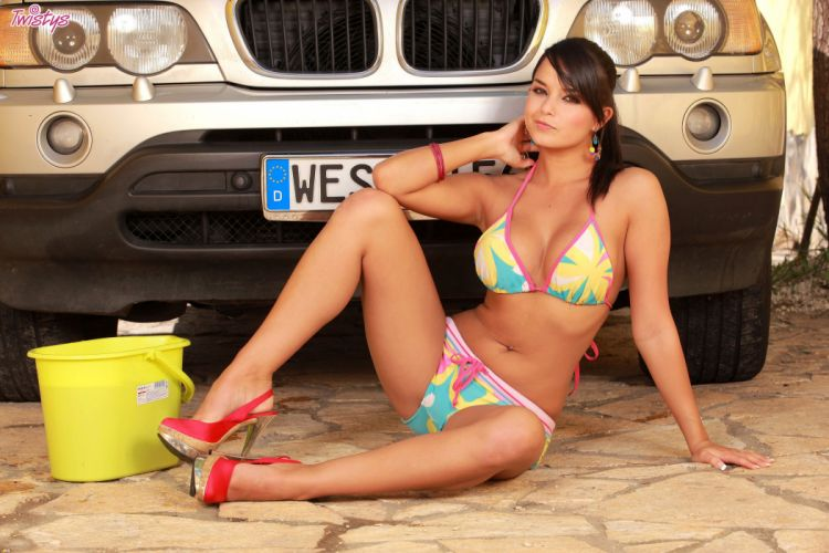 BMW Bra Panties Stilettos Girls wallpaper