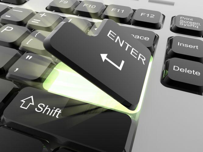 Closeup Keyboard 3D Graphics wallpaper