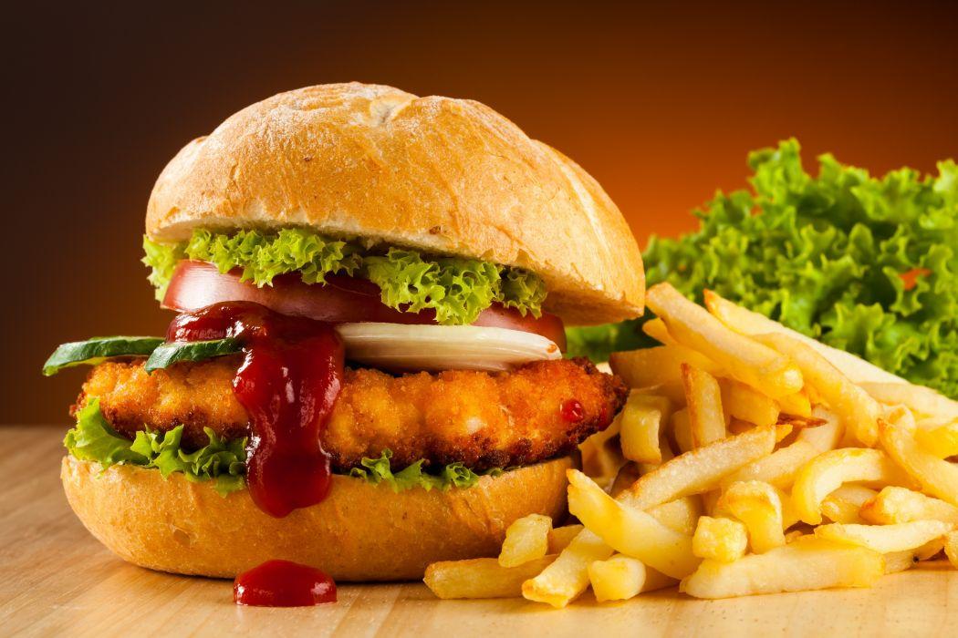 Hamburger Fast food French wallpaper