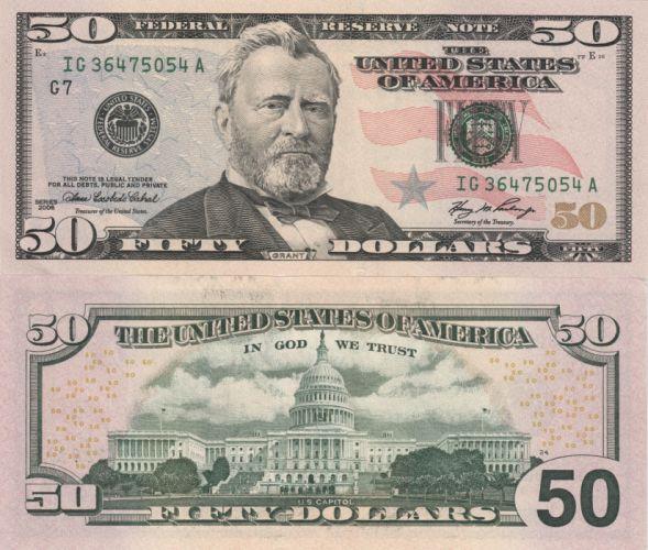 Money Banknotes Dollars 50 dollars wallpaper