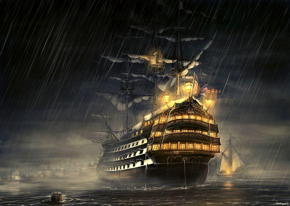 Ships Painting Art Sailing wallpaper
