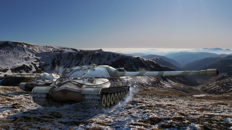 World of Tanks Tanks Games 3D Graphics Nature wallpaper