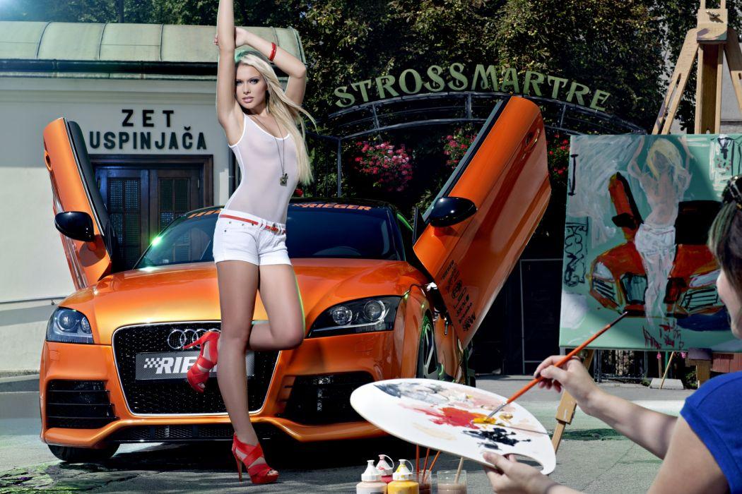 Singlet Shorts Girls Cars wallpaper