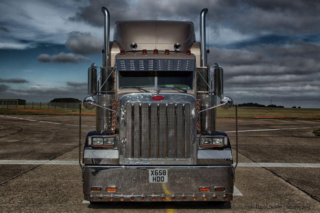 Trucks Peterbilt Front Cars wallpaper