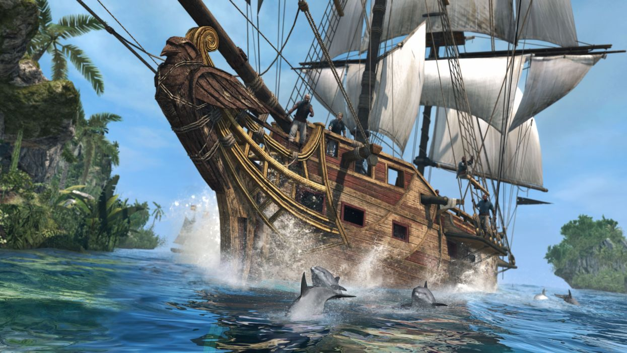Assassin's Creed Assassin's Creed 4 Black Flag Ships Sailing Games 3D Graphics wallpaper