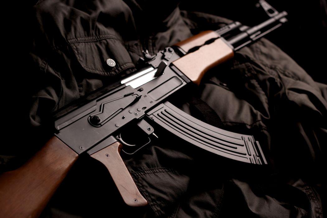 Assault rifle Closeup AK 74 Army wallpaper