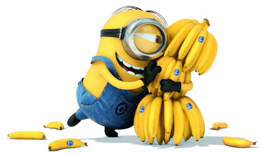 Despicable Me 2 Bananas Glasses Cartoons 3D Graphics wallpaper