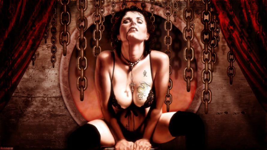 Gothic Fantasy Chain Fantasy Girls wallpaper