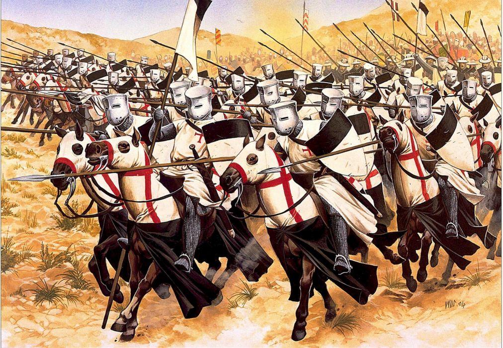 Middle Ages Horses Warriors Knight Spear Helmet Fantasy wallpaper