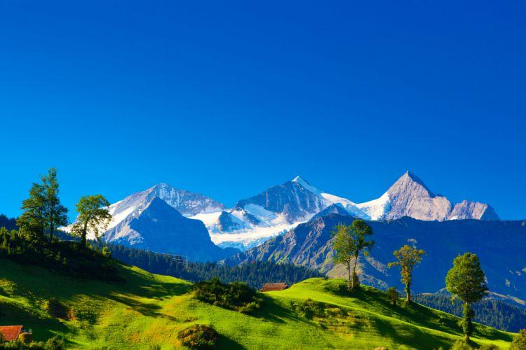 Mountains Scenery Switzerland Alps Nature wallpaper