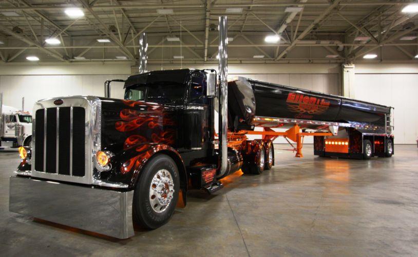 Peterbilt Trucks Black Cars wallpaper