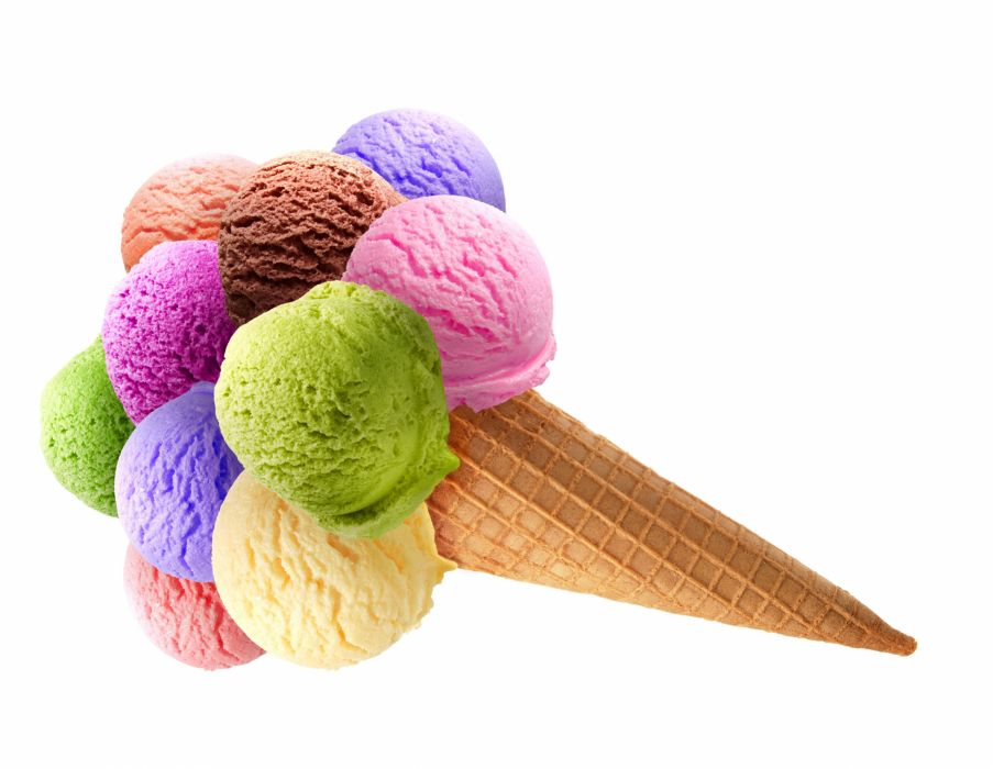 Sweets Ice cream Balls Multicolor Food wallpaper