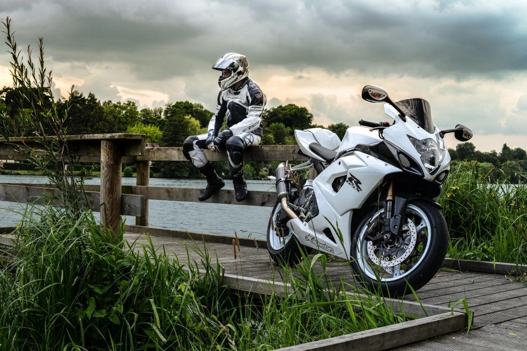 Suzuki Sportbike gsx-r Motorcyclist Motorcycles wallpaper