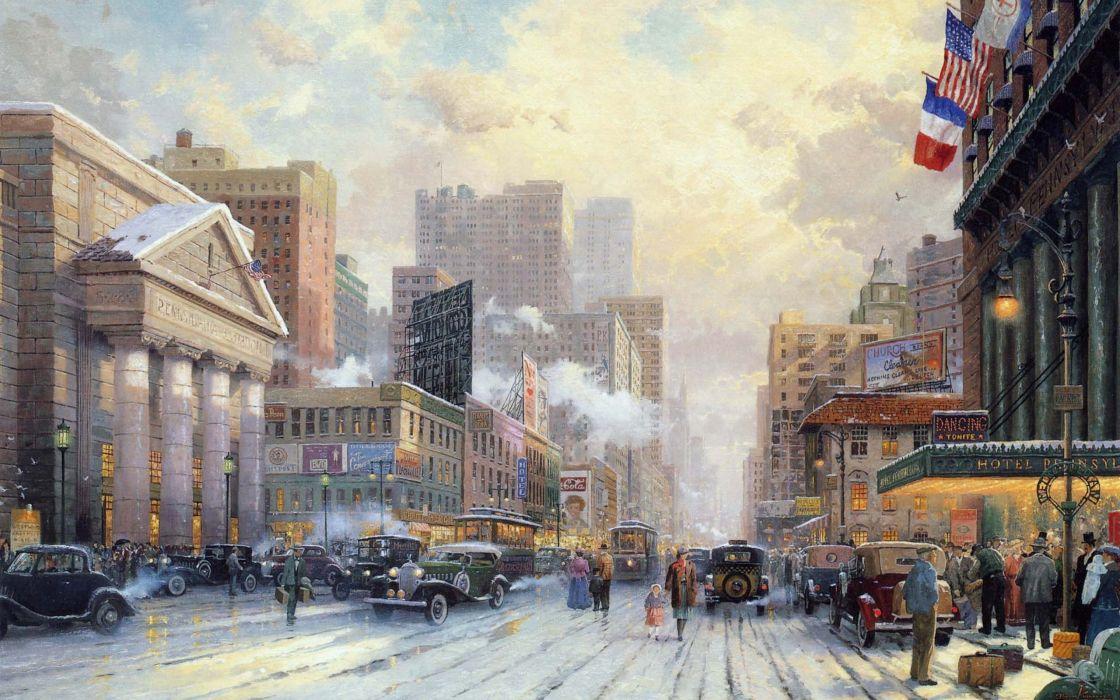 Thomas Kinkade New York wallpaper