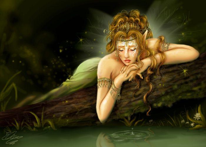 Elves Fairies Fantasy Girls wallpaper