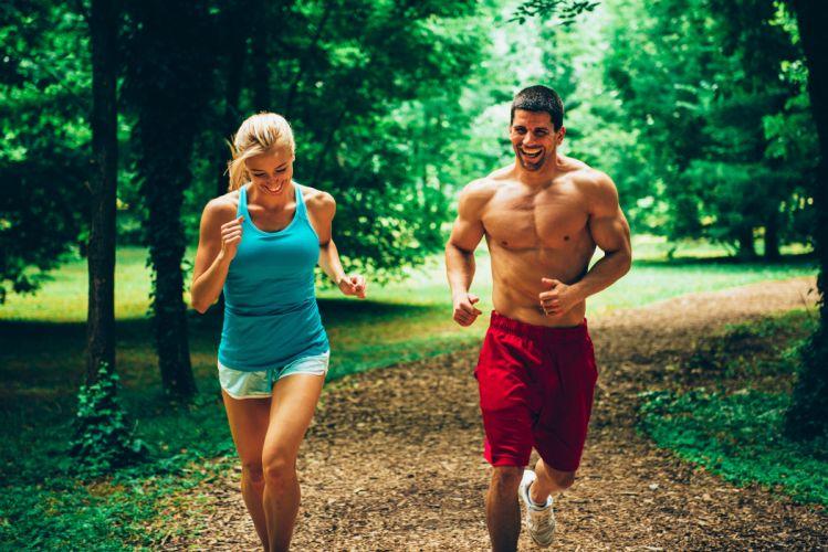 Fitness Men Run Two Smile Singlet Sport Girls wallpaper
