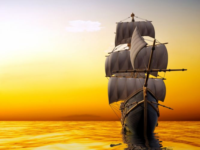 Sailing Sea Sunrises wallpaper