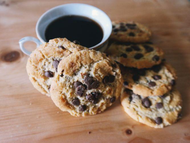 caffeine chocolate chip coffee cookies cup cup of coffee dessert drink food mug sweets wallpaper