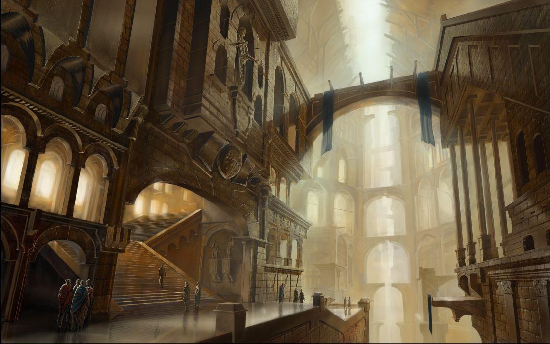 Fantasy City Fantasy Places wallpaper