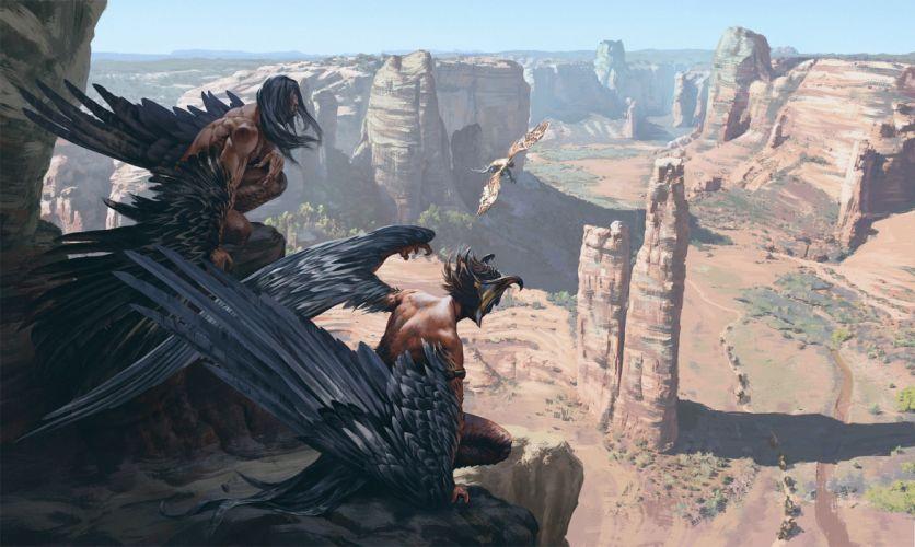 sergey-avtushenko-invasion-of-strangers original character wings male fantasy wallpaper