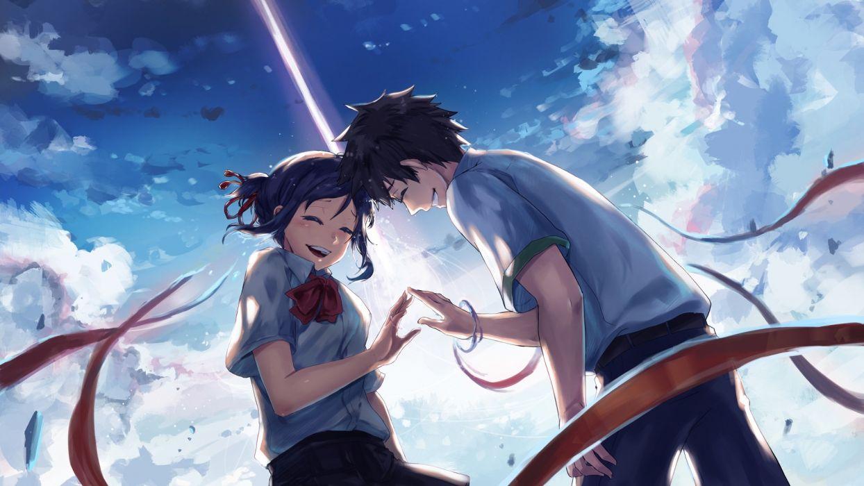 Your Name Kimi No Na Wa Mitsuha Miyamizu Taki Tachibana Anime Wallpaper
