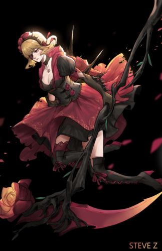 steve-zheng-rose original character beautiful woman fantasy dress wallpaper