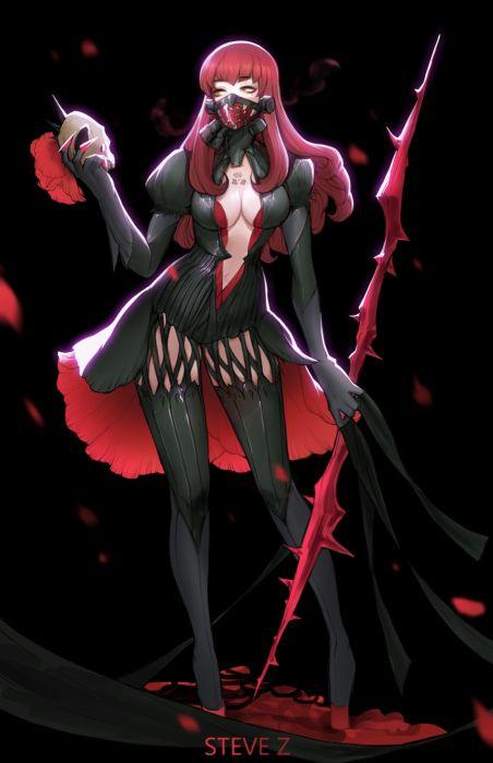 steve-zheng-papaver original character beautiful woman fantasy dress wallpaper