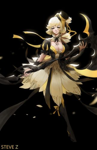 steve-zheng-night-blooming-cereusx original character beautiful woman fantasy dress wallpaper