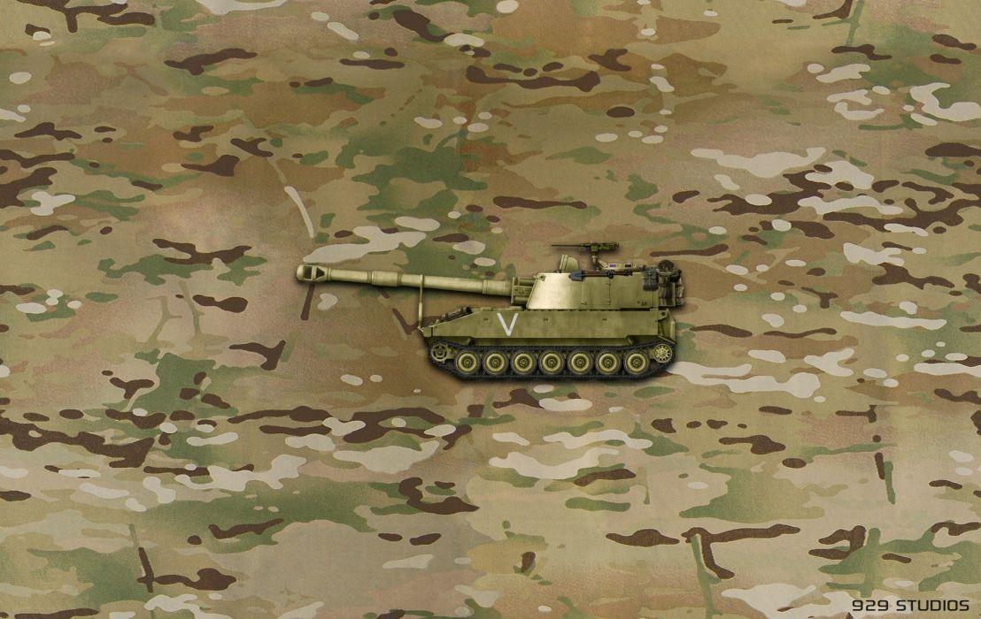 M109 Paladin US Army wallpaper