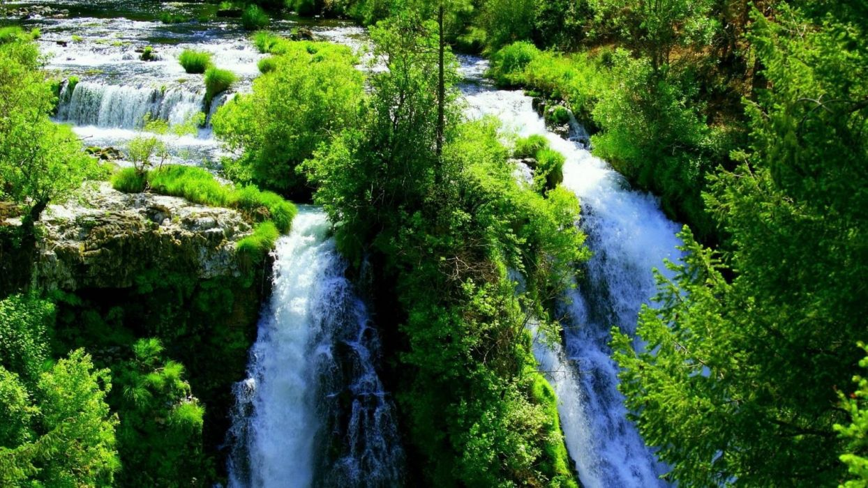 waterfall-cool-forest-river-nature-fun wallpaper