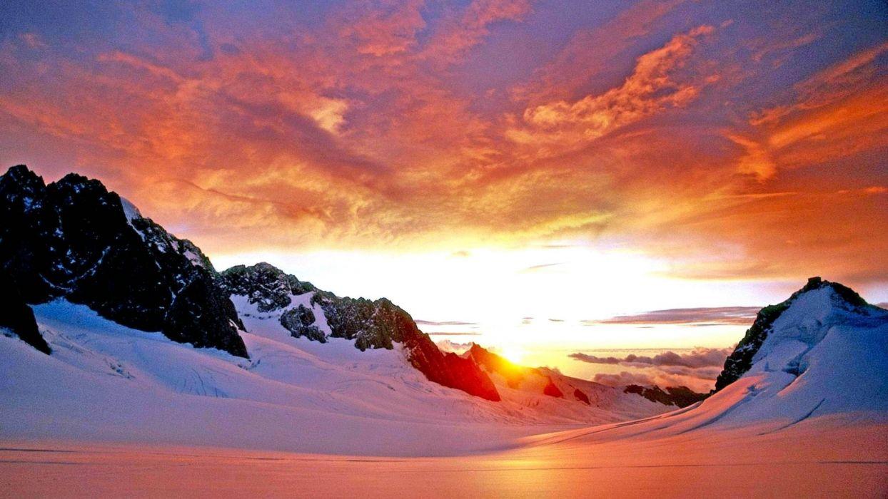 winter-landscape-sunsets-nature-landscapes wallpaper