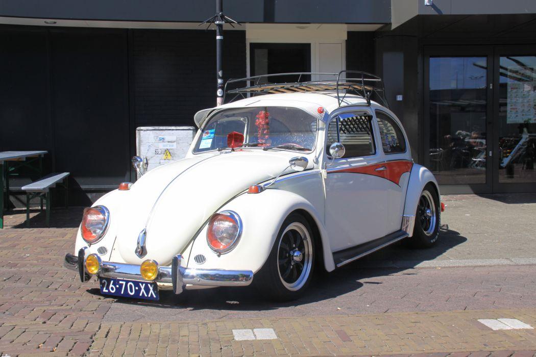 VW Beetle white wallpaper