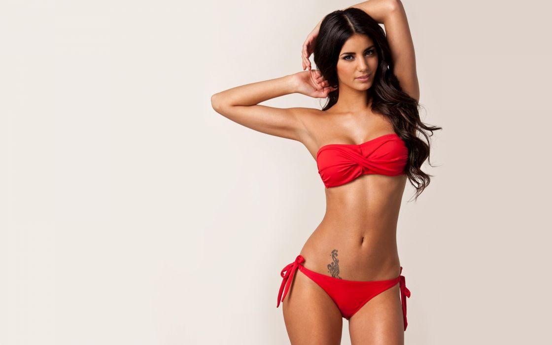 model model sexy girl beauty johanna lundback brunette wallpaper