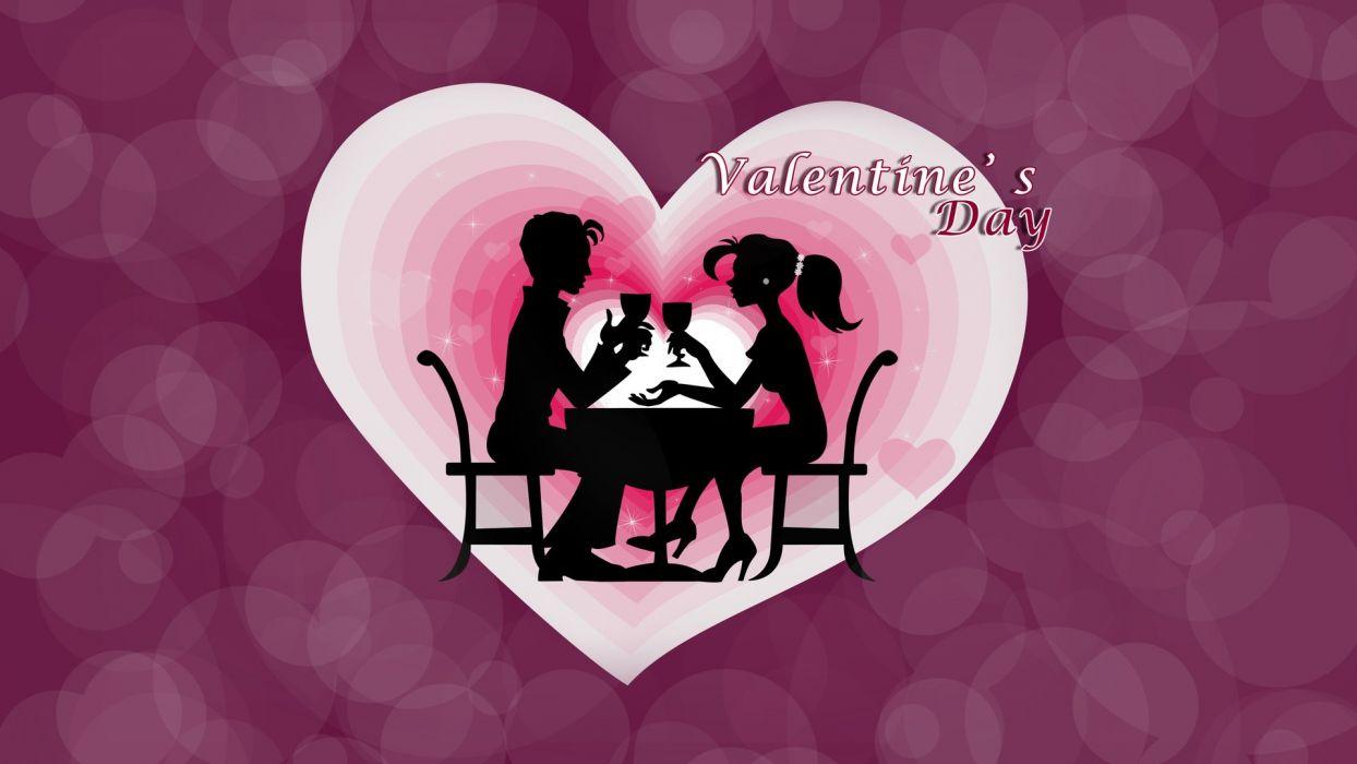 silueta amor corazon purpura san valentin wallpaper