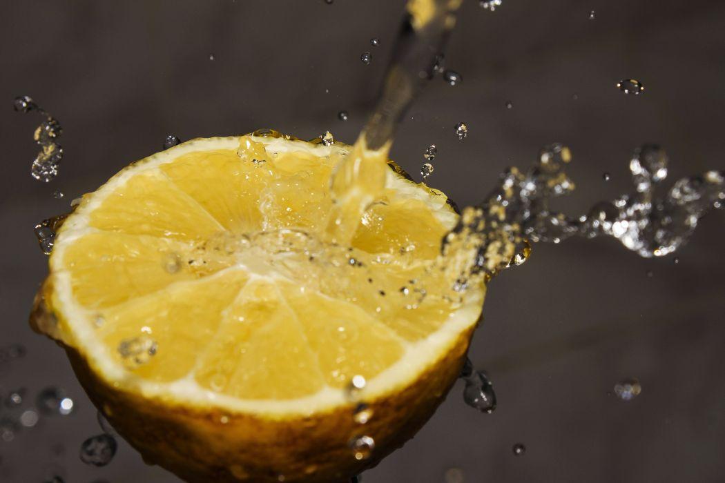 fruit lemon lemonade sour splash water wallpaper