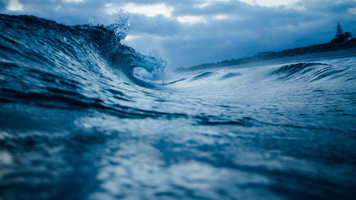 blue ocean oceanshore storm water wave public domain images wallpaper