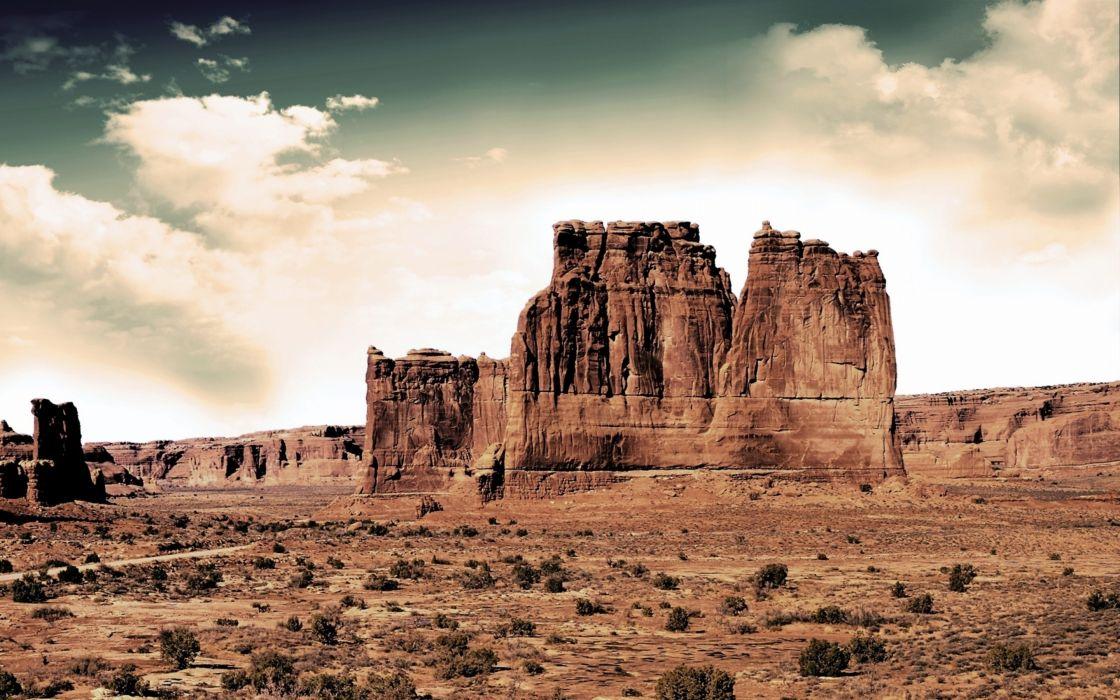 desierto rocas naturaleza wallpaper