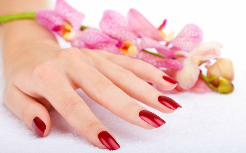 Hands-nails-finger-manicure-flowers wallpaper