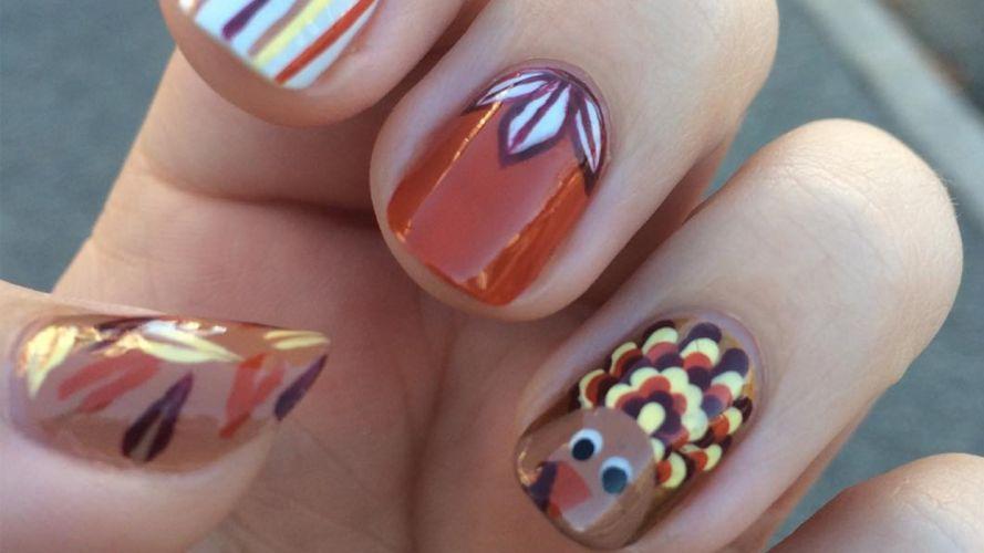 Hands-nails-finger-manicure-thanksgiving wallpaper