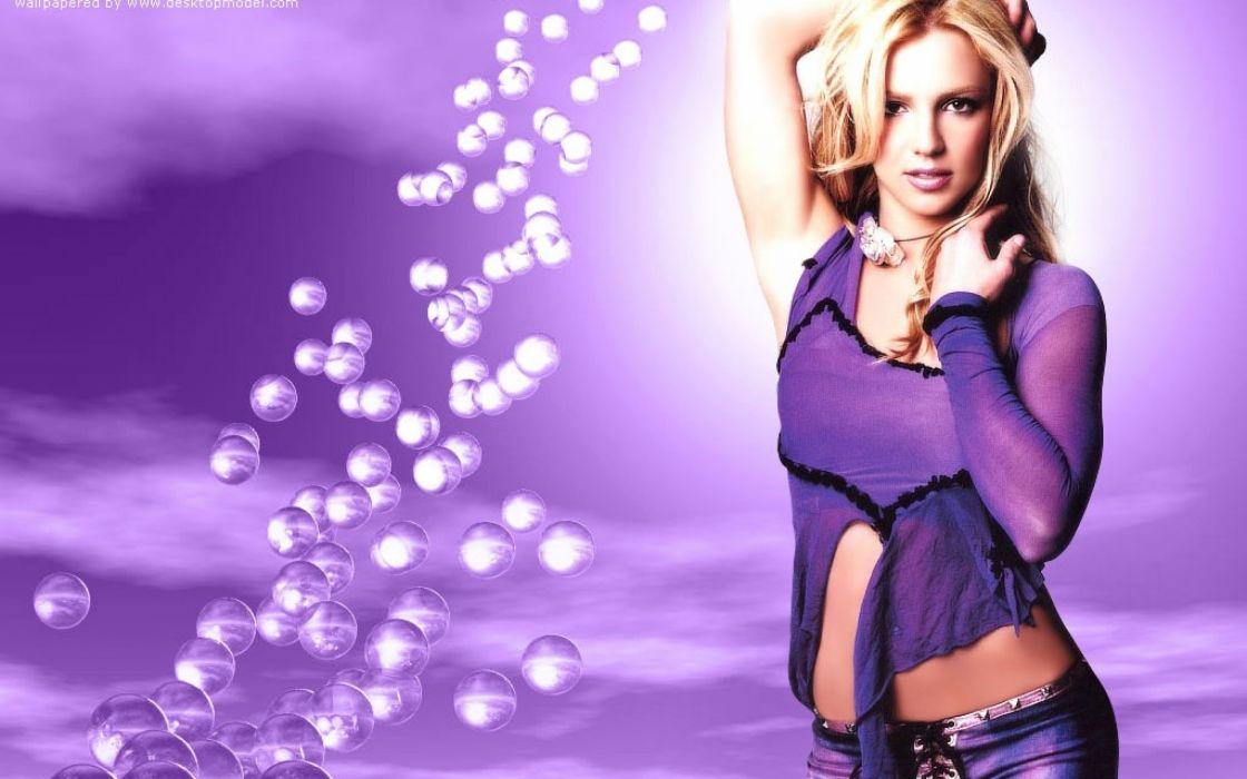 Britney Spears in a lilac dress wallpaper