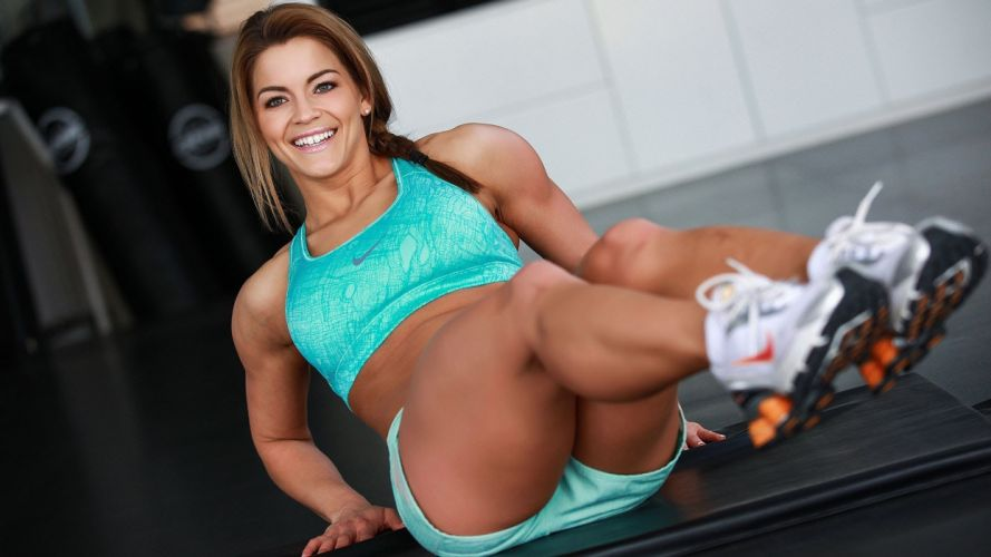 Sports sensuality-sensual-sexy-woman-girl-fitness-model-workout-abs-legs-sneakers wallpaper