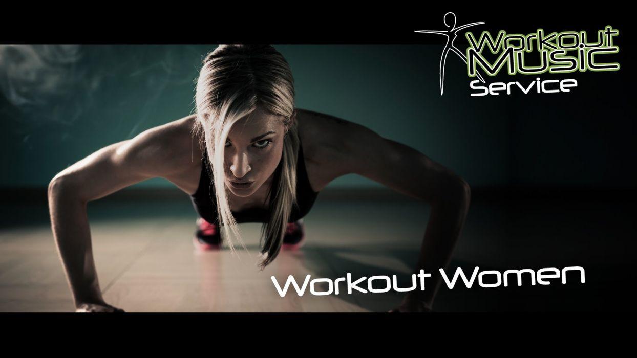 Sports-sensuality-sensual-sexy-woman-girl-fitness-model-workout-aerobic-music-pushup wallpaper