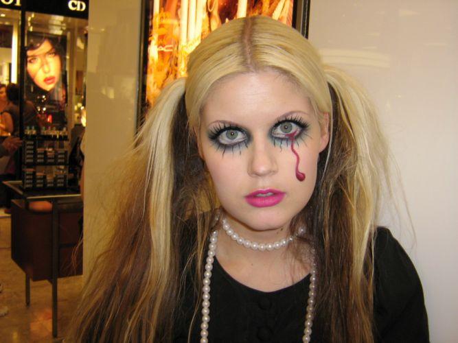 Face-woman-girl-model-costumes-halloween-makeup-art wallpaper